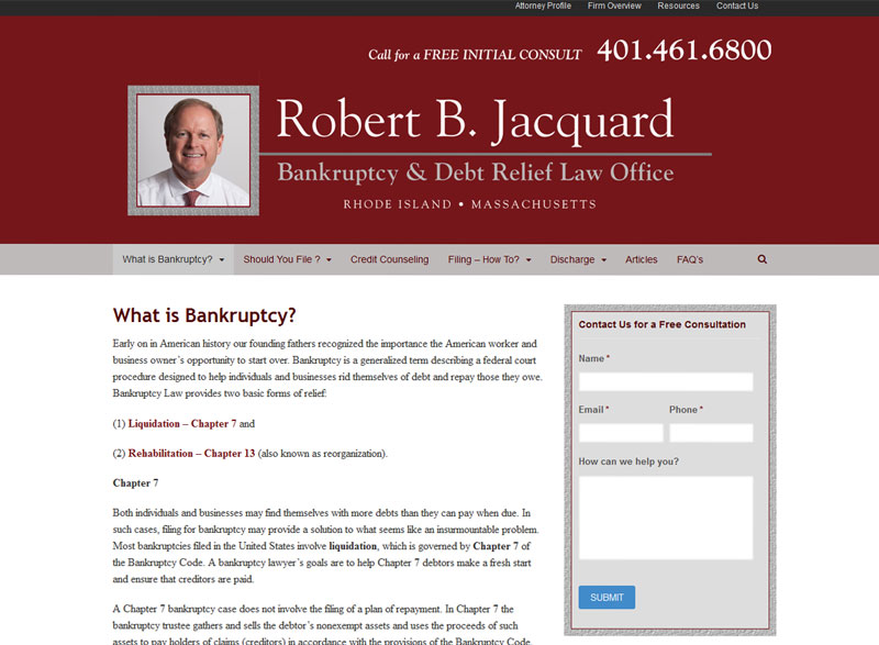 Robert B. Jacquard Bankruptcy & Debt Relief Law Office